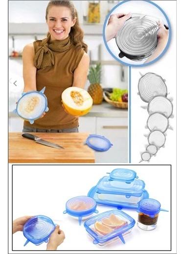 Kitchen Love 6Boy-Pratik Taşırmaz Silikon Tencere Kapağı Beyaz